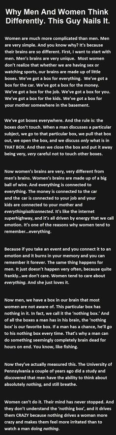 Why Men And Women Think Differently This Guy Nails It funny quotes quote jokes story lol funny quote funny quotes funny sayings joke humor stories