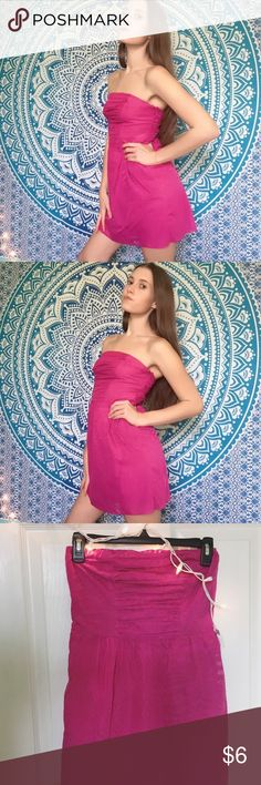 it's a cute dress, but it's just not my style. This is a simple, hot pink dress. There is a zebra and cheetah print on this dress(not very noticeable). Perfect for summer and spring! If you throw a cardigan it's perfect for the early fall season. #pink #summer #spring #sunplease Dresses Mini