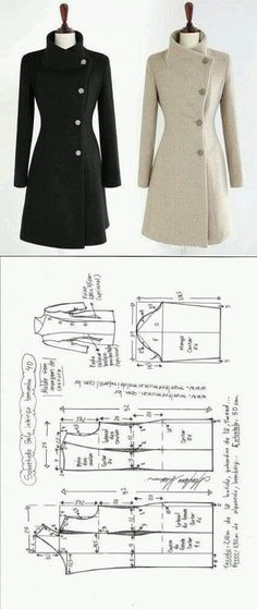 Amazing Sewing Patterns Clone Your Clothes Ideas. Enchanting Sewing Patterns Clone Your Clothes Ideas. Fashion Sewing, Diy Fashion, Ideias Fashion, Fashion Outfits, Girly Outfits, Cool Outfits, Coat Patterns, Dress Sewing Patterns, Clothing Patterns