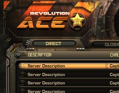 UI, HUD & Icon Design Concepts for iOS and PC Game Revolution Ace.