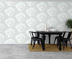 Flere hvite roser på veggen. Hvorfor ikke? www.borge.no
