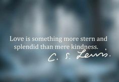 ...something more stern and splendid than mere kindness.
