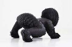 child sculptures by sabi van hemert - art chicquero - black