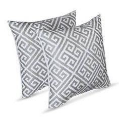 Add a touch of elegant color to any space with these Greek Key Throw Pillows from Threshold. These gorgeous throw pillows look lovely with both classic and contemporary decor.
