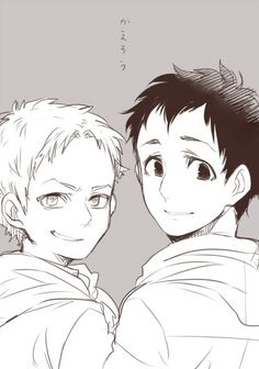 Well aren't they cute? ^-^ -Bertholdt Hoover and Reiner Braun are awesome friends :3