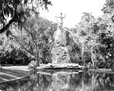 Florida Memory - Statue of Chief Tomokie at Tomoka State Park - Ormond Beach, Florida