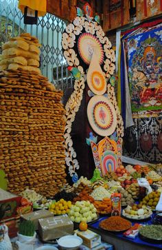 Ladakh Nunnery Losar Shrine with Butter Sculpture