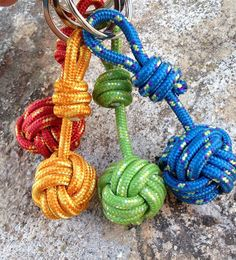 Monkey fist keyring  Love these. So perfect for climbers or other activity people :)