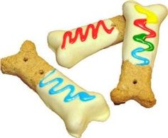 dog treat icing on dog biscuits