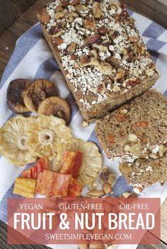 Easy Vegan Fruit & Nut Bread {gluten- & oil-free}