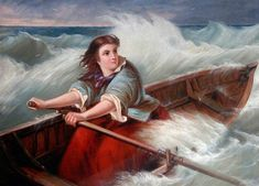 Grace Darling - At 22 she became famous for helping her light-house keeper father rescue survivors of the SS Forfarshire when the ship was storm forced onto Harcar rocks on the 7th Sept, 1838.