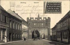 Ansichtskarte / Postkarte Jüterbog im Kreis Teltow Fläming, Blick auf das Dammtor | akpool.de