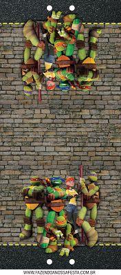 Tartarugas Ninjas - Mini Kit com molduras para convites, rótulos para guloseimas, lembrancinhas,imagens!