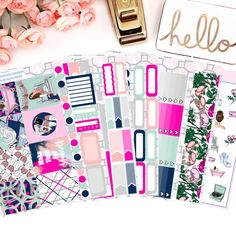 From £3  Me Time Vertical Weekly Kit, Erin Condren, Happy Planner, Cute, Fashion, Beauty, Planner Stickers