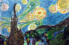 5th Grade Art with Mrs. Brown - Starry Night