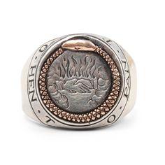 Ouroboros Signet Ring - Rings - Catbird