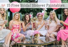 15 Free Bridal Printables