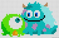 Baby Monsters Inc too cute! Granny square chart