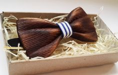Sea Wooden Bow Tie Mens Bow Tie Grooms Bow Tie by MaryDecorStudio