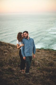 Casual California Engagement Photos at Point Reyes