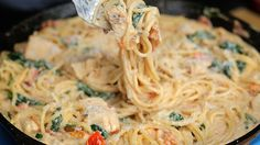 Tuscan Chicken Spaghetti - Twisted