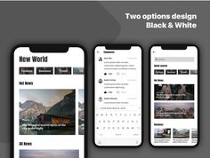 Caily News - Magazine & News UI Kit by Capi Creative on Business Travel, Business Fashion, Google Fonts, Adobe Xd, Words To Describe, News Magazines, Ui Kit, Website Template, Templates