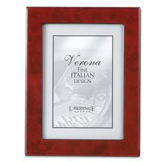 """Lawrence Frames Faux Burl Picture Frame Size: 5"""" x 7"""", Color: Forest Green"""