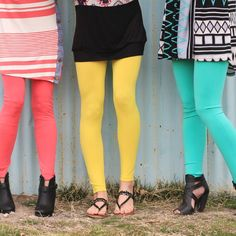 ONLY $3.99! | Enjoy your comfy leggings without the heat! These leggings are made to last. They are just as great as your fleece lined leggings but without all the lining! They are cool comfortable and come in a variety of fun summer colors! | Find them now at www.groopdealz.com