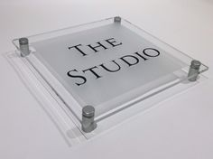 Acrylic house signs The Studio at Home … Or at the Office. Prestige Acrylic Signs www.de-signage.com