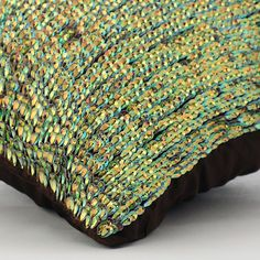 Rainbow Peacock Green Couch Sofa Cushion Covers by TheHomeCentric