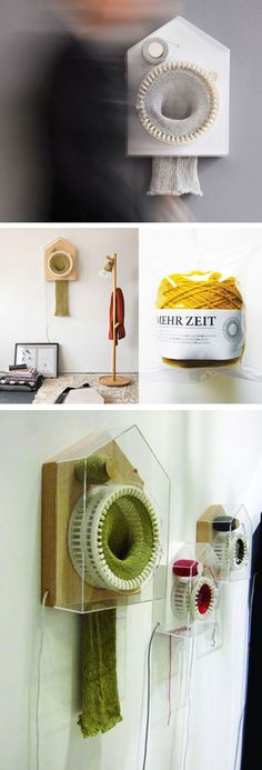 kniting clock by Siren Elise Wilhelmsen. via mon carnet