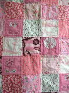 Patchwork quilt--such a simple pattern, just squares, but so effective!