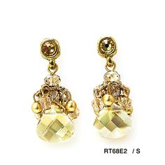 Cristals and beads earrings / RT68E2