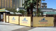 Large Fence Banners at Mandalay Bay in Las Vegas