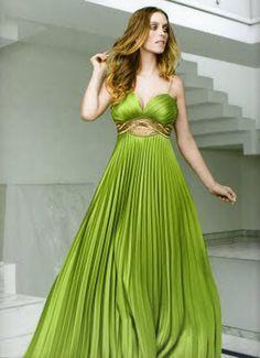 vestido verde longo - Pesquisa Google