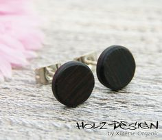 Tiny Ø8mm Wooden ear studs Extra small post studs by XTremeOrganic