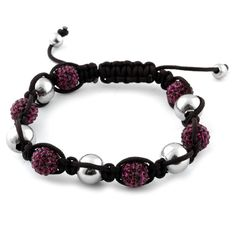 Liquidation Channel | Plum Austrian Crystal and Hematite #Tranquility Bracelet