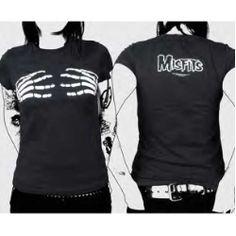 Misfits Skeleton Hands Jr Tee- Great Band T-shirts, Hoodies ...