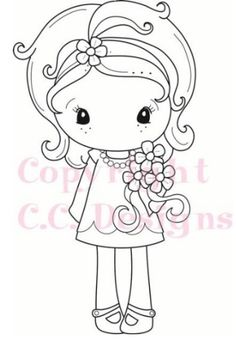 C.C. Designs - Cling Mounted Rubber Stamp - Spring Kiki La Rue,$6.49