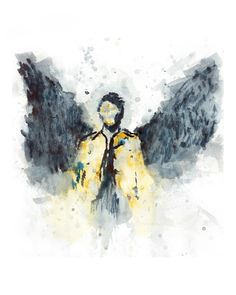 Castiel, Angel, Supernatural, Geek, Fandom, Nerd, Winchesters, Supernatural art, Supernatural print, Supernatural watercolor by DripDryArt on Etsy https://www.etsy.com/listing/286963283/castiel-angel-supernatural-geek-fandom