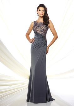 Montage by Mon Cheri Spring 2016 – Style No. 116947 Montage by Mon Cheri Spring 2016 – Style No. Mother Of Groom Dresses, Mothers Dresses, Elegant Dresses, Pretty Dresses, Mob Dresses, Formal Dresses, Gray Formal Dress, A Line Gown, Bride Gowns
