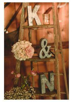 Rustic ladder display