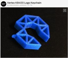 Users of the Velleman Vertex K8400 3D Printer can showcase their love for 3d printing with this attractive Vertex Logo Keychain found on @thingiverse! Thing:1570418 _______________ #thingiverse #vertex #vellemanvertex #k8400 #keychain #maker #hobbyist #3dprinting #3dprinter #3dprinted #3dprint #vellemank8400 #vertexk8400 #filament