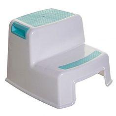 Dreambaby 2-Step Plastic Step Stool with 200 lb. Load Capacity ; Aqua