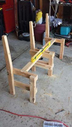 Handmade Wood Furniture, Diy Garden Furniture, Diy Pallet Furniture, Diy Furniture Projects, Woodworking Furniture, Woodworking Plans, Woodworking Projects, Wood Bench Plans, Diy Wood Bench