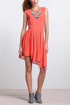 Stairways Mini Dress (Coral). Anthropologie. $178.00