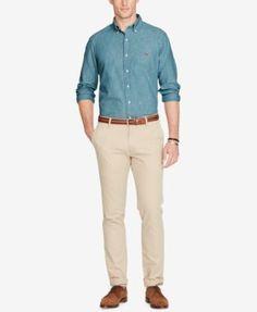 8905e0eb Polo Ralph Lauren Men's Long Sleeve Classic-Fit Chambray Shirt - Chambray M