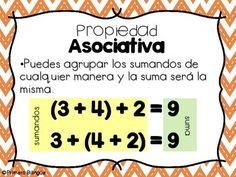 13 Ideas De Propiedad Asociativa Actividades De Matematicas Material Didactico Para Matematicas Educacion Matematicas