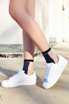Colorblock Sheer Sock - Urban Outfitters