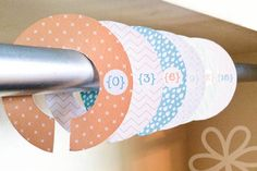 Getting organized: Free printable closet dividers for babies and kids